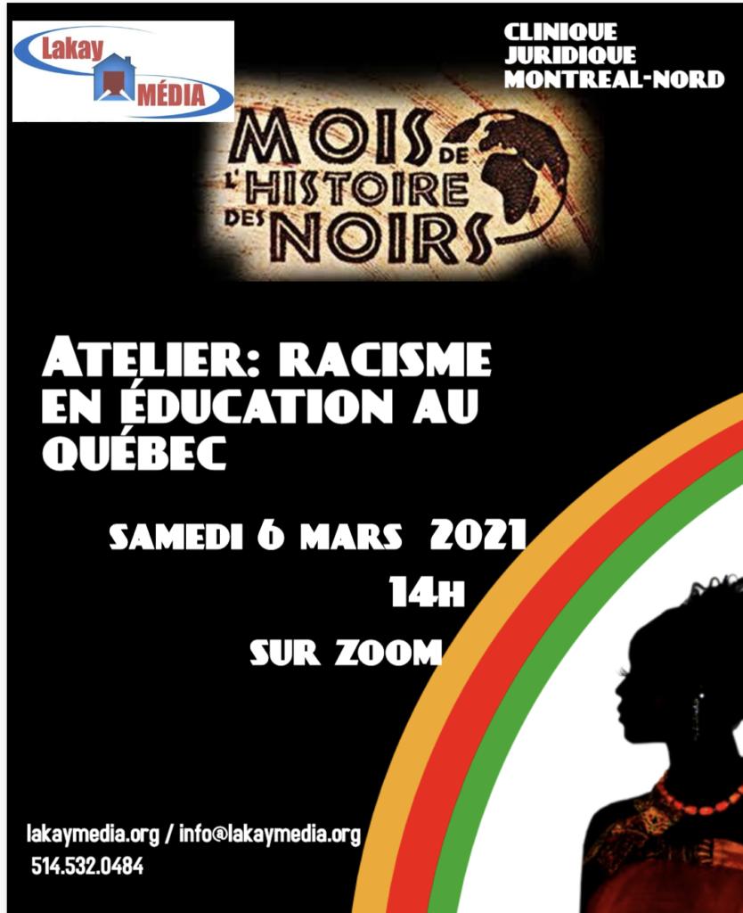 Atelier sur le racisme en éducation au Québec